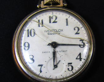 Westclox Scotty Pocket Watch - Runs - Made in USA