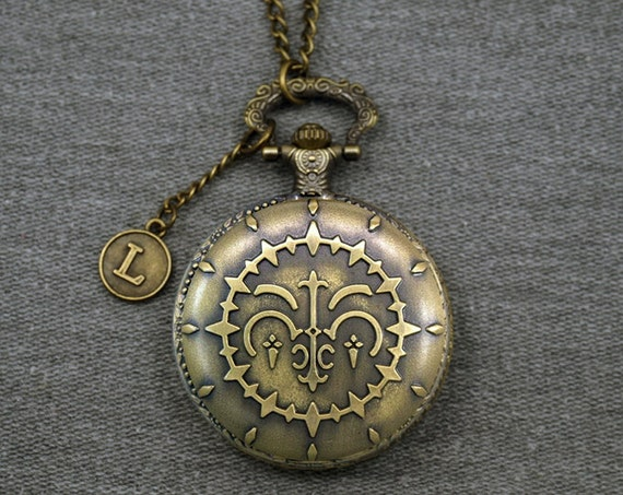 Pandora hearts pocket watch antique bronze locket necklace aloadofball Image collections