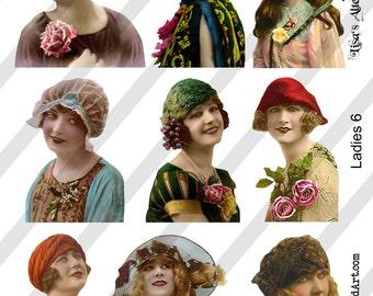PNG Ladies Digital Collage Sheet Ladies No. 6 (Sheet no. L6) Instant Download