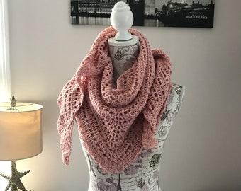 Cotton Linen summer shawl