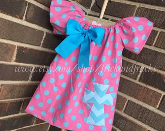 Pink and Blue Easter Dress, Easter Peasant Dress, Easter Outfit, Baby Easter Dress, Baby Easter Outfit, Toddler Easter Dress, Toddler Outfit