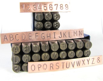 Huge 8mm 5/16  Metal Alphabet stamps letters numbers for hand word or Initial stamping