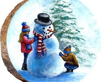 Kids Building Frosty the Snowman - DX165