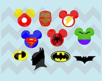 Mickey Inspired Superhero Magic Band Decals
