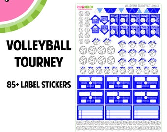 Volleyball Tourney Sticker Set |  OVER 80+ Kiss-Cut Stickers |  Perfect for Erin Condren Life Planner & Scrapbook Planners | DK13 |