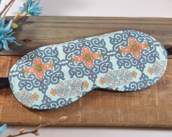 Boho Eye Sleeping Sleep Mask, Abstract Bohemian Novelty Gift, Soft Pastel Meditation Present for Her, Migraine Insominia Relief Aid Friend