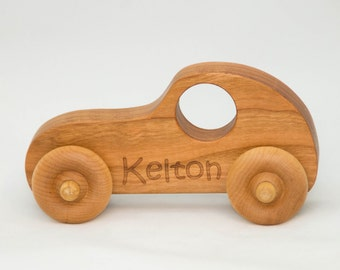 Wooden Toy Car, Wood Car, Push Toy - Personalized Toy for Children