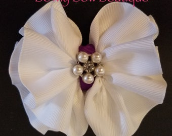 Ruffle Hair Bow