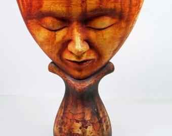 "original sculpture ""Spiral Head"""