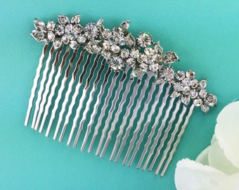 Crystal Wedding Comb, Rhinestone Comb, Bridal Comb pearl, Wedding Crystal Hair Comb, Hair Comb, Wedding Accessory, Emily Crystal Comb