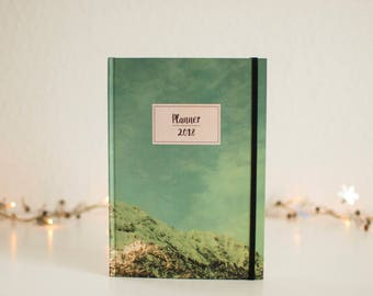 Planner 2018, Planner, Alps, Weekly Planner, Agenda, 2018 Monthly Calendar, Scheduler, Notebook, Daily planner, Christmas gift, Notes, Diary