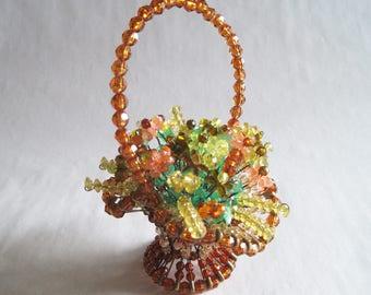 Vintage Beaded Bouquet – Basket of Flowers