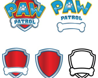 Paw Patrol SVG, paw Patrol logo, clip art in digital format svg, EPS, PNG. For cameo Silhouette, Cricut, cutting file