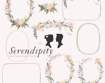 Hand Painted Wedding Clip Art - Serendipity
