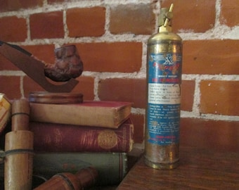 """VINTAGE FIRE EXTINGUISHER, Stop Fire """"Mighty Midget"""" Fire Extinguisher, miniature fire extinguisher"""