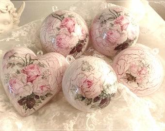 5 Christmas decorations Shabby Chic romantic