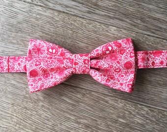 Bow tie - red Delft