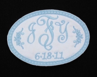 Wedding dress label, Wedding dress patch, Wedding gown label, Wedding gown patch, Something blue gown label, Style 1005