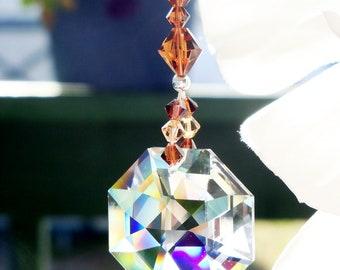 Ceiling Fan Pull Brown Room Decor Swarovski Crystal Light Pulls