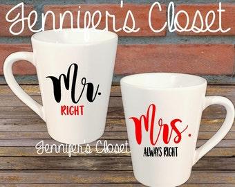 Custom mug decal, coffee mug, decal, vinyl decal, wedding gift, Funny Mug, His and hers, white cup, shower gift, anniversary