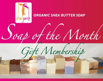 12 MONTH - Dian Jane Organics Soap of the Month Club Membership Gift for Her