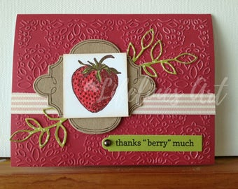 Thanks Berry Handmade Card
