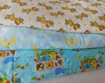 2  BABY FLANNEL Sleep Sacks --  with or without mittens -- available in S,M,L or X-Large