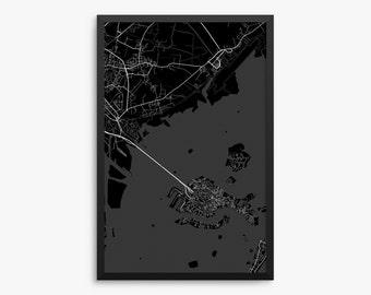 Venice Street Map, Venice Italy, Modern Art Print, Venice Gift, Venice Decor, Italian Decor, Italy Gift, Office Decor, Home Decor, Gift Idea