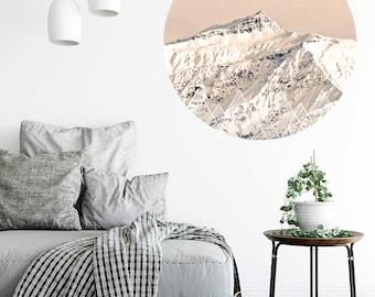BLACK PEAK, Wanaka, New Zealand. Walldot vinyl fabric restickable art decal (15cm x 15cm or 40cm x 40cm)
