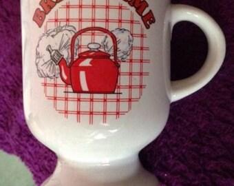 break time' mug/cup vintage retro 1980's great condition