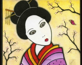 Geisha, Fabric Panel
