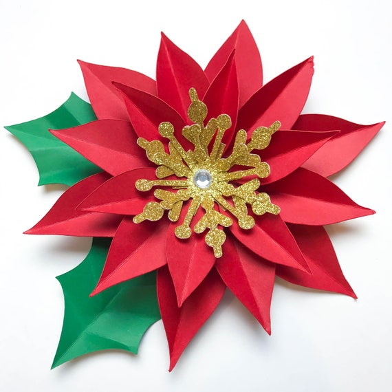 Paper flowers svgpng christmas poinsettia paper flower mightylinksfo