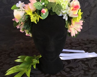Gerbera flower crown/wreath