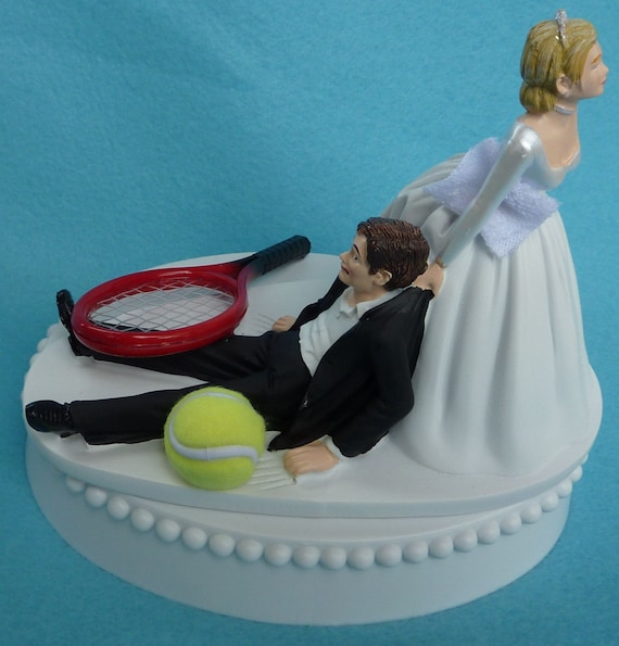 tennis inspired wedding cakes wedding cake topper tennis player racquet sports groom 20794