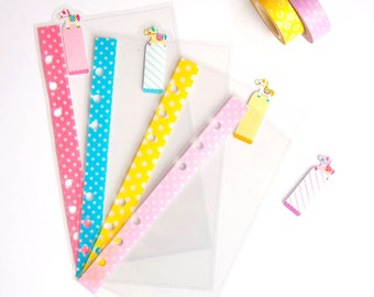 Cute Pony ~ Personal Clear Dividers Top Tabs for Filofax / Kikki-k / Webster's Pages