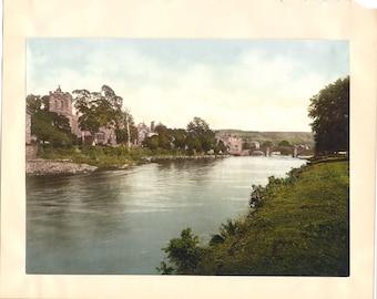 1890's Hand-Tinted Photograph Llanrwst
