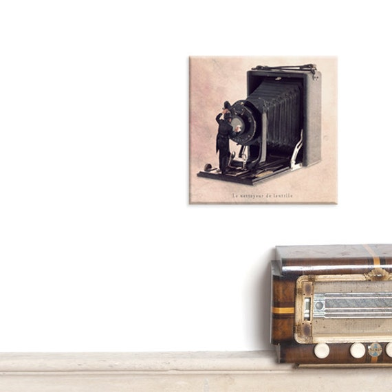 custom print, canvas, canvas wrap, canvas art, Vintage camera, Photographer Gift Ideas for Him, black and pink Living room decor, Camera