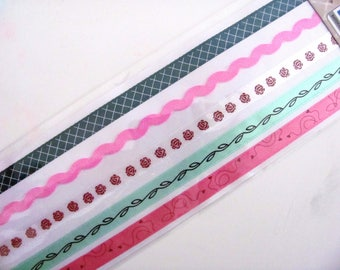 5 ribbons deco stickers for cardmaking or scrapbooking 5x50cm