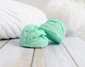 Eucalyptus Mint Bubble Bath Scoop - Solid Bubble Bath Scoop - Spearmint Eucalyptus Bubble Bar Scoop - Mint Scented Bubble Bath Scoop