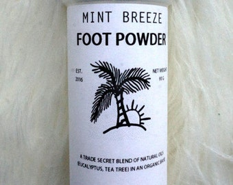 All Natural Foot Powder Mint Breeze  (Odor removal and moisture control)