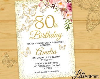 invitations for 80th birthday party
