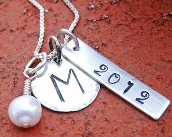 Graduation Necklace - Graduation Gift - Graduate gift - School Necklace - School Spirit