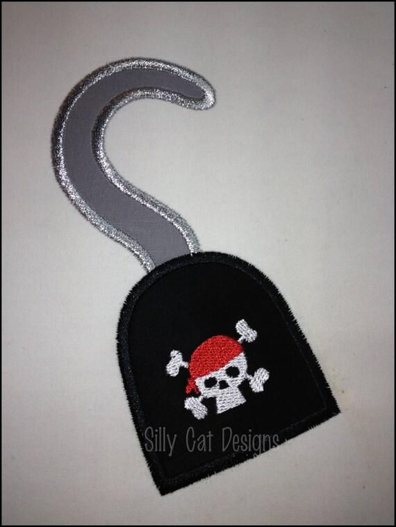 Pirate Hook Applique Machine Embroidery Design