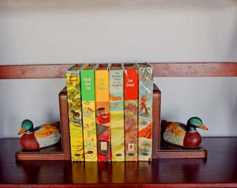 Six Vintage 1950s Childrens Classics Hardcover Books