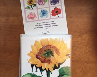Watercolor Floral Notecard Set