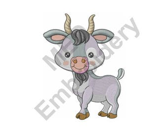 Baby Goat - Machine Embroidery Design, Goat, Kid