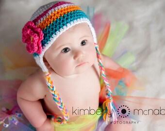 Baby Girl Hat, Toddler Girl Hat, Crochet Baby Hat, Baby Newborn Hat, Ready to Ship, Newborn Photo Prop, Baby Shower Gift, Toddler Hat