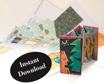 """How to Make the Artist Book, """"Good People,"""" DIY book, Back to Back Accordion Pop-up Book Tutorial, DIY Origami Fold Book Instructions"""
