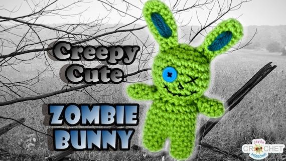 Creepy Cute Zombie Bunny Crochet Pattern Stuffed Toy Plush