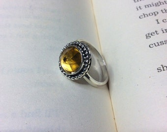 Golden Sun - Citrine Sterling Silver Ring
